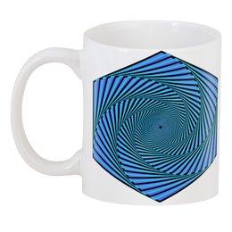 """3D кружка """"Иллюзорное движение по спирали"""" - узор, орнамент, подарок, абстракция, медитация"""