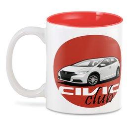 """3D кружка """"Honda Civic club"""" - club, nine, honda, civic, хонда"""