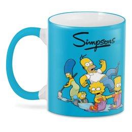 "3D кружка ""Симпсоны"" - гомер, семья, симпсоны, мульт"