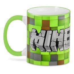"""3D кружка """"Minecraft"""" - компьютерные игры, майнкрафт, приключение, игроманам"""