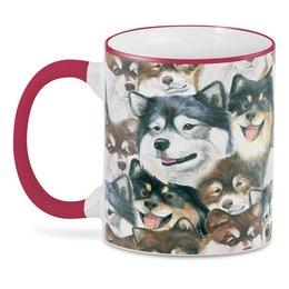 "3D кружка ""лаппхунд"" - животные, собака, лаппхунд"
