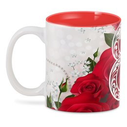 "3D кружка ""8 марта"" - цветы, 8 марта, розы"