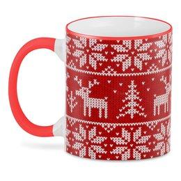 "3D кружка ""Рождество (Олени)"" - олени, новый год, рождество"