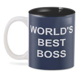 """3D кружка """"World's Best Boss"""" - sitcom, the office, michael scott, steve carell, dwight schrute"""