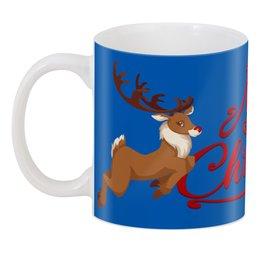 """3D кружка """"Christmas"""" - праздник, новый год, рождество, олень, christmas"""