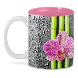"""3D кружка """"Черные капли Начальнице"""" - цветы, женщине, маме, орхидея"""