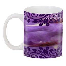 """3D кружка """"Фиолетовая фантазия."""" - сиреневый, фиолетовый, краски, нежность, фантазия"""