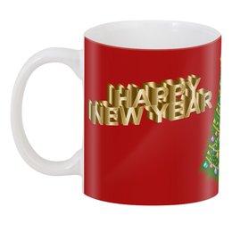 """3D кружка """"Новый год"""" - праздник, новый год, рождество, снежинки, christmas"""