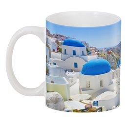"3D кружка ""Греческий остров"" - остров, отпуск, греческий, греция, greece"