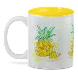 """3D кружка """"Ананас"""" - лето, вкусный, фрукт, ананас"""
