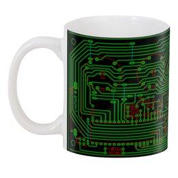 """3D кружка """"Печатная плата"""" - электрика, электроника, технологии, печатная плата, микросхема"""