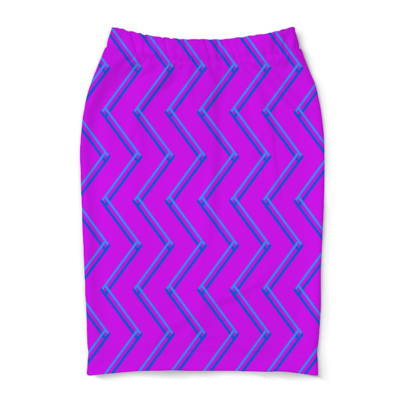 Юбка-карандаш Printio Синие волны юбка карандаш printio цветные волны