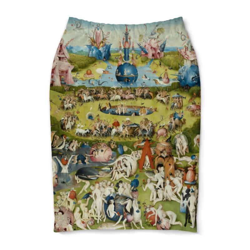 Юбка-карандаш Printio Сад земных наслаждений юбка в складку printio сад земных наслаждений