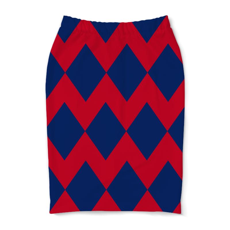 Юбка-карандаш Printio Цветные ромбы юбка карандаш printio цветные волны