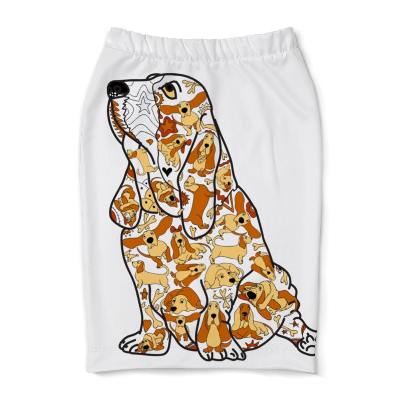 Юбка-карандаш Printio Смешная собака бассет купить щенкак в донецке бассет