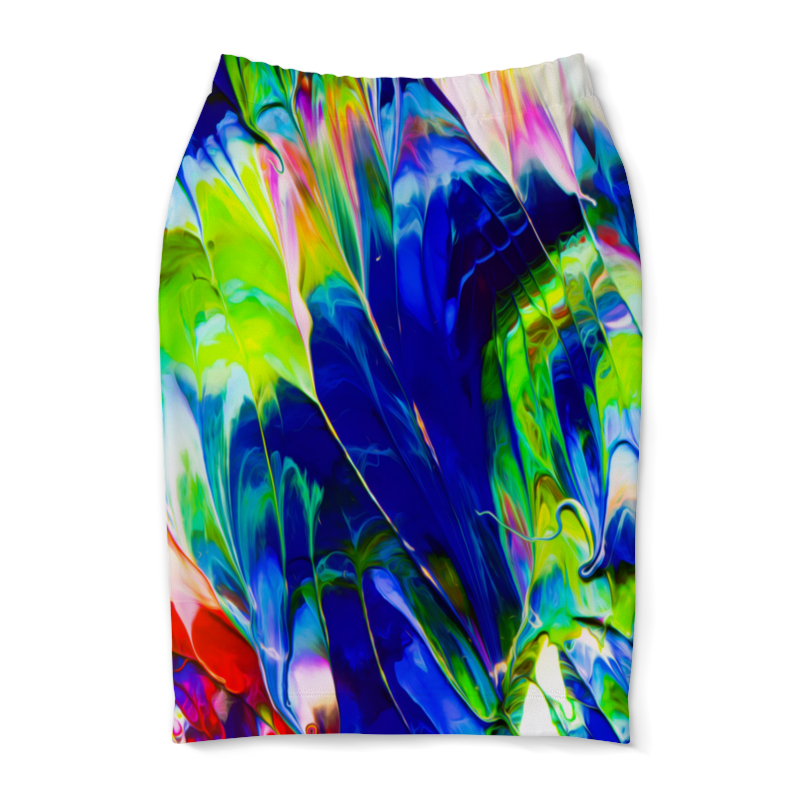 Юбка-карандаш Printio Переливы красок бусы жемчужные переливы
