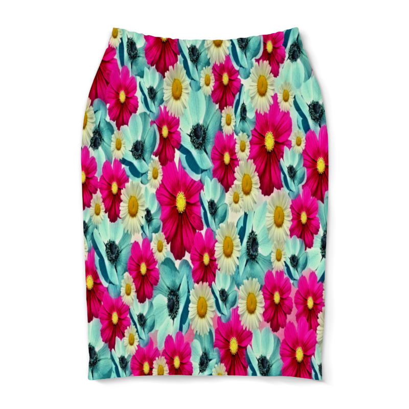 Юбка-карандаш Printio Цветочный сад юбка карандаш printio райский сад