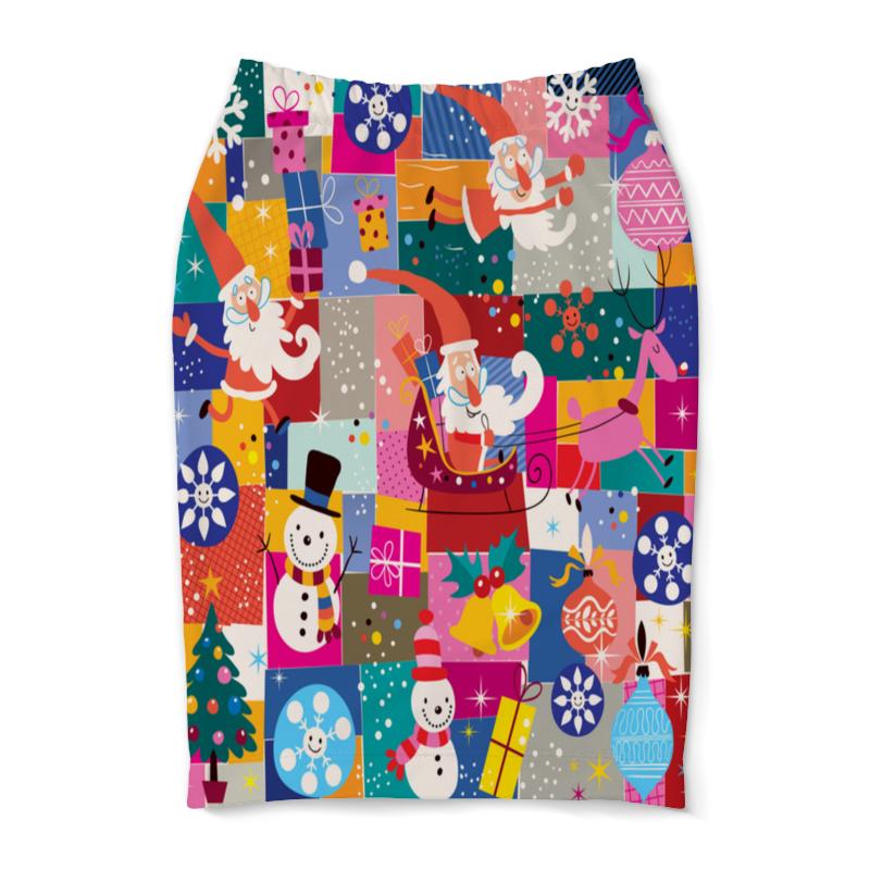 Юбка-карандаш Printio Санта и подарки сумка printio подарки