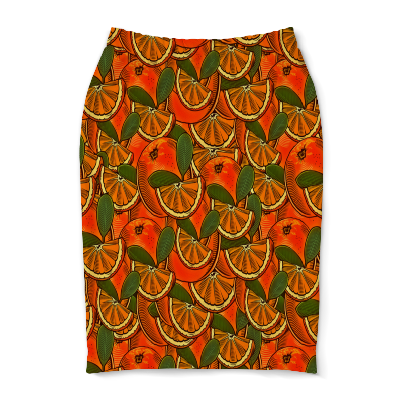 Юбка-карандаш Printio Апельсин юбка карандаш printio райский сад