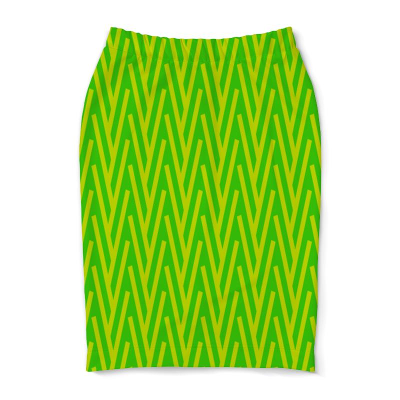 Юбка-карандаш Printio Желто-зеленый узор жучок zhorya желто зеленый
