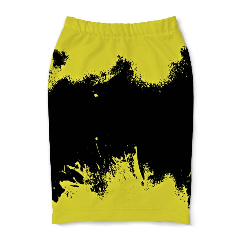 Юбка-карандаш Printio Черно-желтые краски
