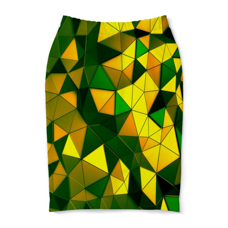 Юбка-карандаш Printio Желто-зеленые стекла