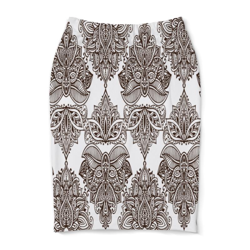 Юбка-карандаш Printio Черно-белые узоры юбка в складку printio черно белые узоры