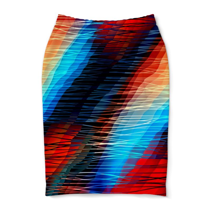 Юбка-карандаш Printio Цветные текстуры юбка карандаш printio цветные волны