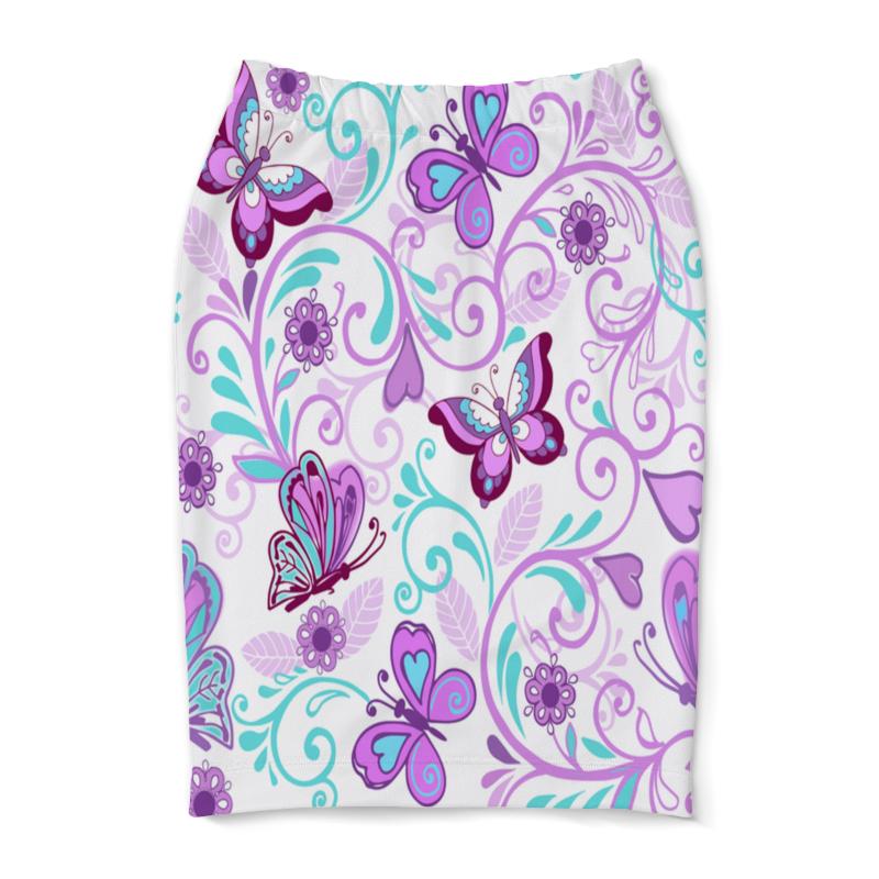 Юбка-карандаш Printio Цветные бабочки юбка карандаш printio цветные волны