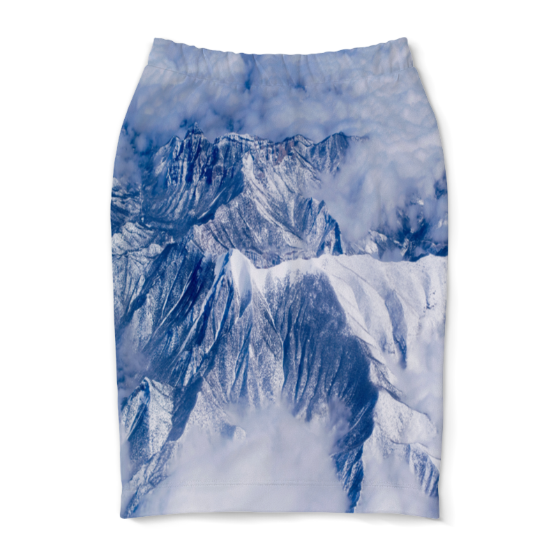 Юбка-карандаш Printio Снежные горы