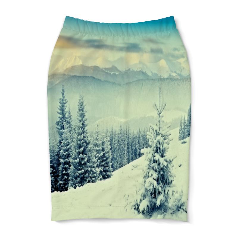 Юбка-карандаш Printio Winter юбка карандаш printio райский сад