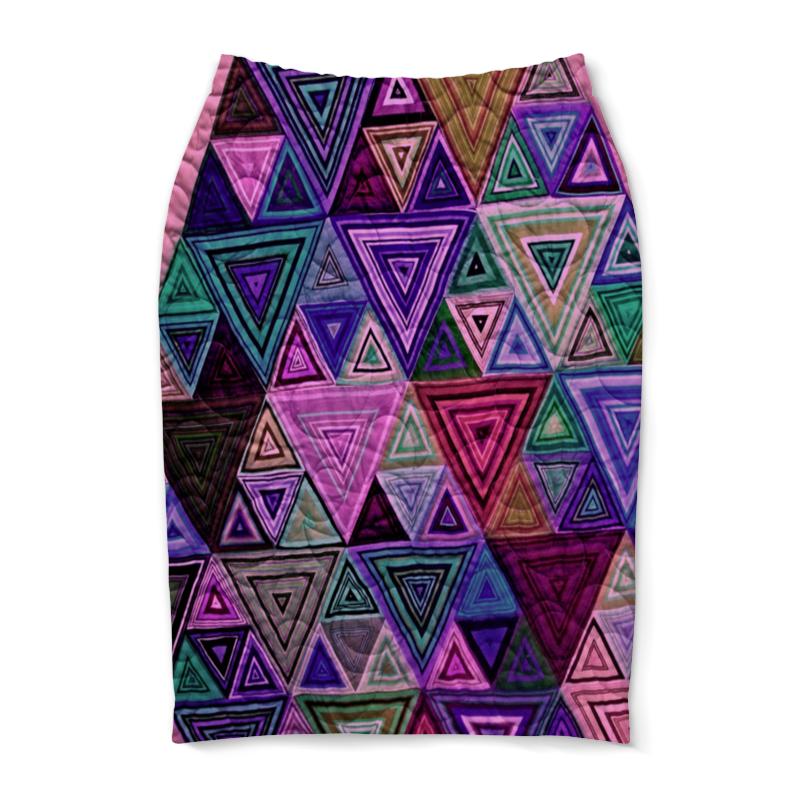 Юбка-карандаш Printio Треугольный юбка карандаш printio райский сад