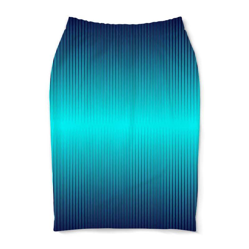 Юбка-карандаш Printio Синие полосы юбка карандаш printio цветные полосы