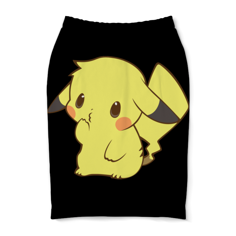 Юбка-карандаш Printio Pikachu / пикачу anime pu short yellow purse button wallet printed with pikachu of pikachu