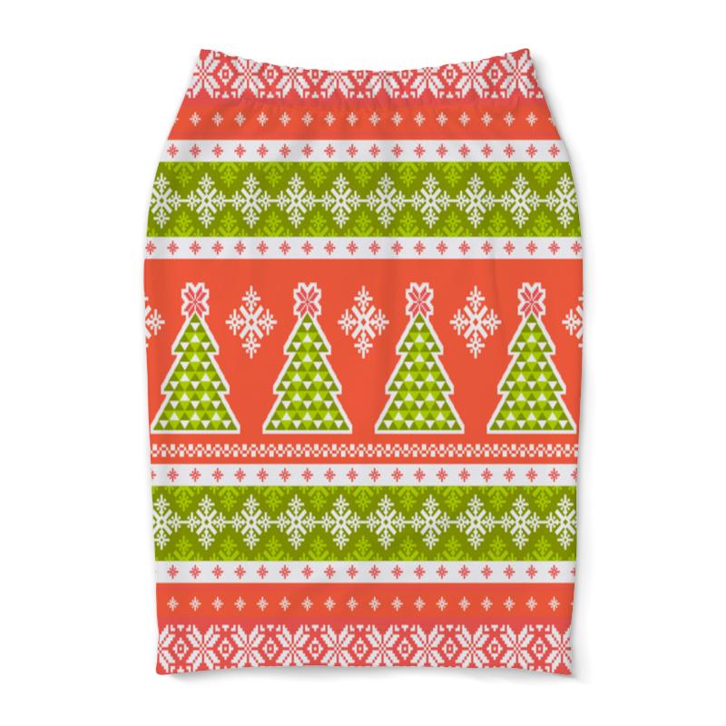 Юбка-карандаш Printio Новогодний орнамент юбка карандаш укороченная printio новогодний орнамент