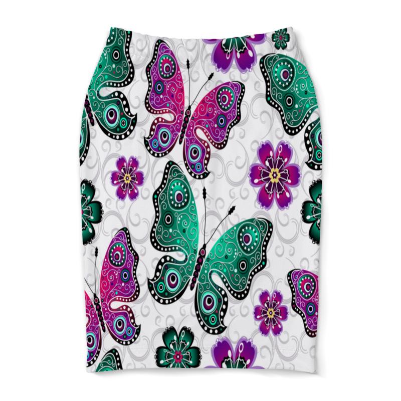 Юбка-карандаш Printio Цветные бабочки растение растущий карандаш восточные пряности цветные 6шт rk 02 06 06