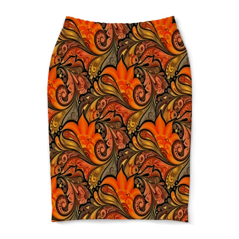 Юбка-карандаш Printio Расписные узоры юбка карандаш printio london