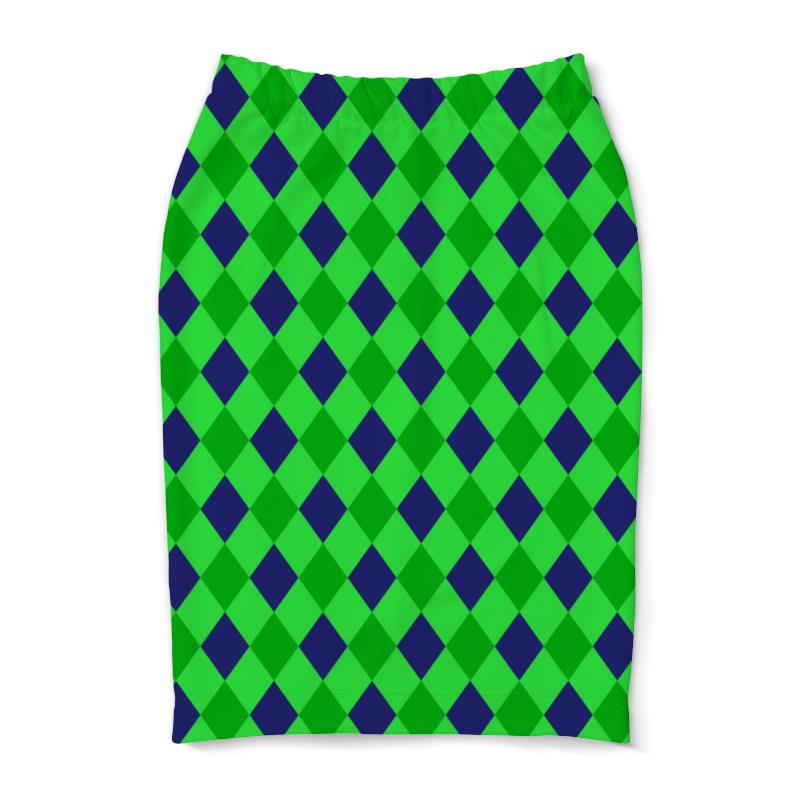 Юбка-карандаш Printio Сине-зеленые квадраты платье с рукавами printio сине зеленые квадраты