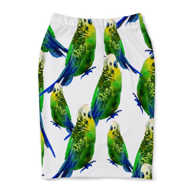Юбка-карандаш Printio Попугаи попугаи 9см