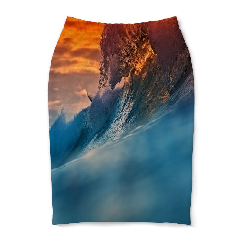 Юбка-карандаш Printio Всплеск волны юбка карандаш printio цветные волны