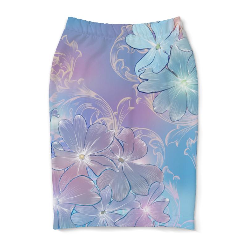 Юбка-карандаш Printio Нежные цветы куртка голубого цвета brums ут 00008775