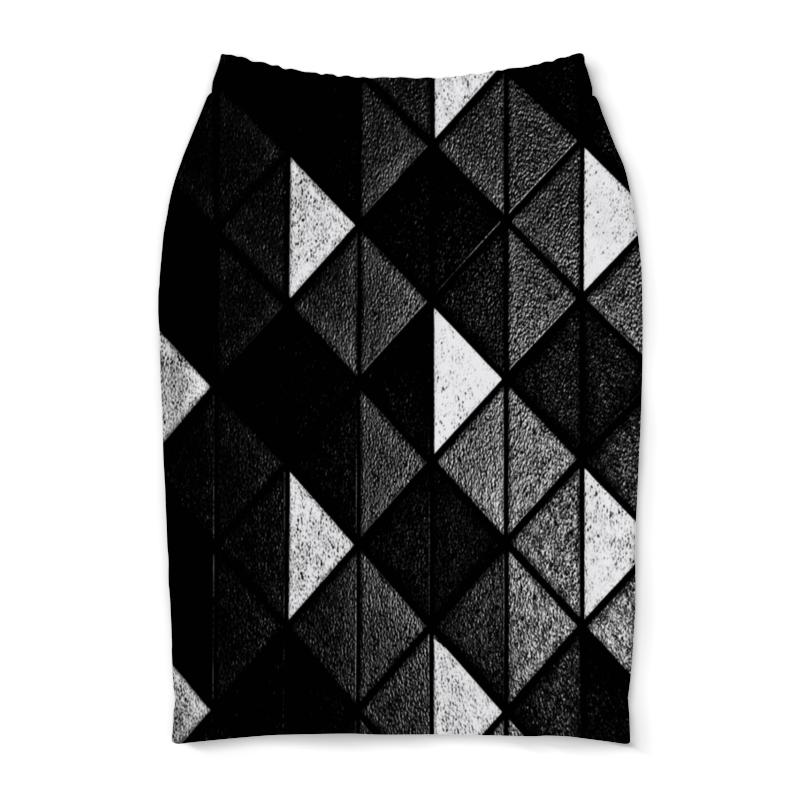 Юбка-карандаш Printio Черно-белые фигуры