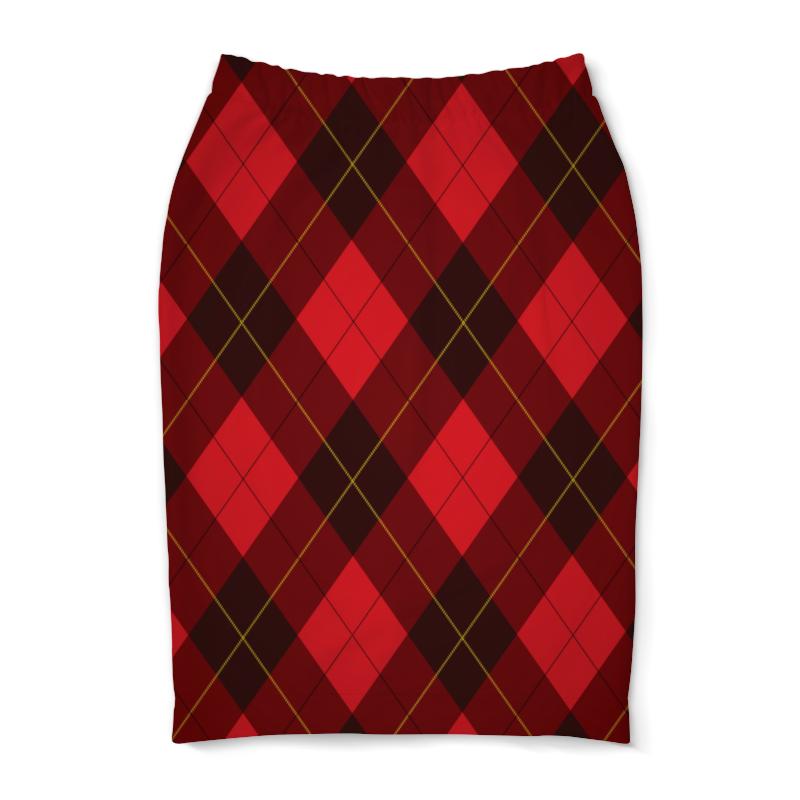 Юбка-карандаш Printio Клетчатая облегающая юбка в крупную клетку lo облегающая юбка в крупную клетку