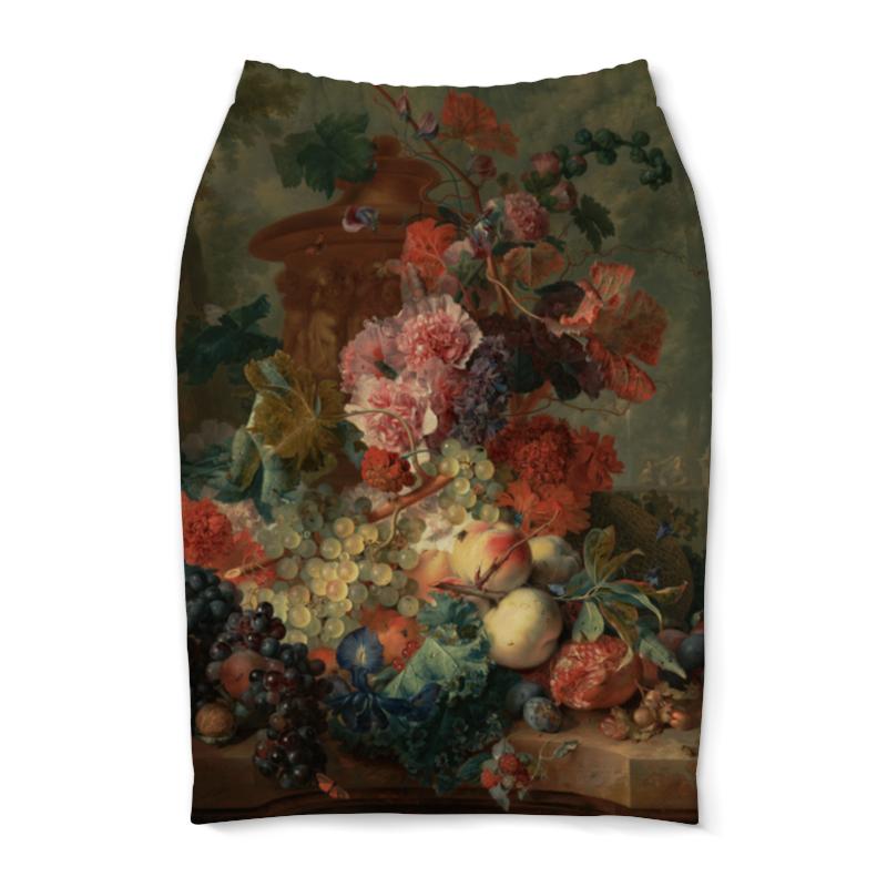 Юбка-карандаш Printio Цветы (ян ван хёйсум) василий ян батый