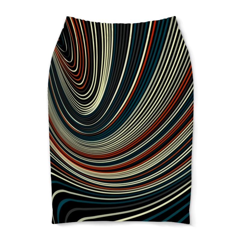 Юбка-карандаш Printio Линии цветные юбка карандаш printio цветные волны