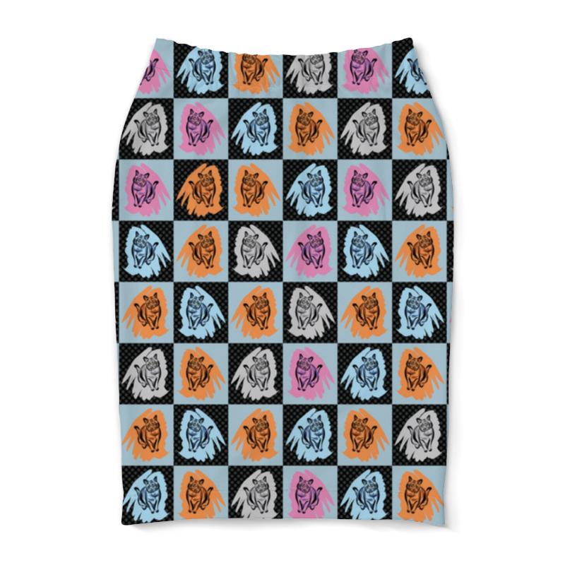 Юбка-карандаш Printio Коты в клеточку полуприлегающая юбка в клеточку dream world полуприлегающая юбка в клеточку