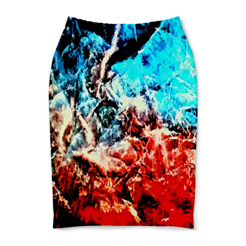Юбка-карандаш Printio Лед и пламя юбка карандаш printio пламя