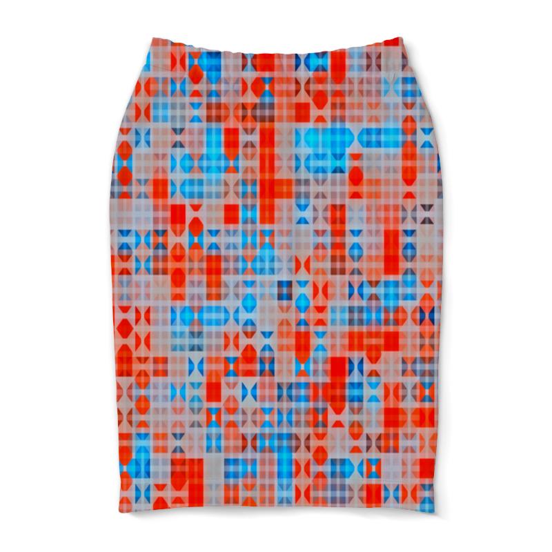 Юбка-карандаш Printio Цветные фигуры юбка карандаш printio цветные волны