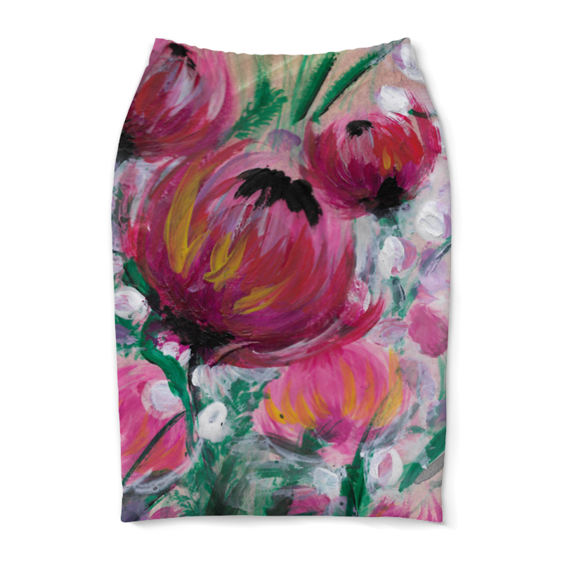 Юбка-карандаш Printio Полевые цветы юбка карандаш printio полевые маки