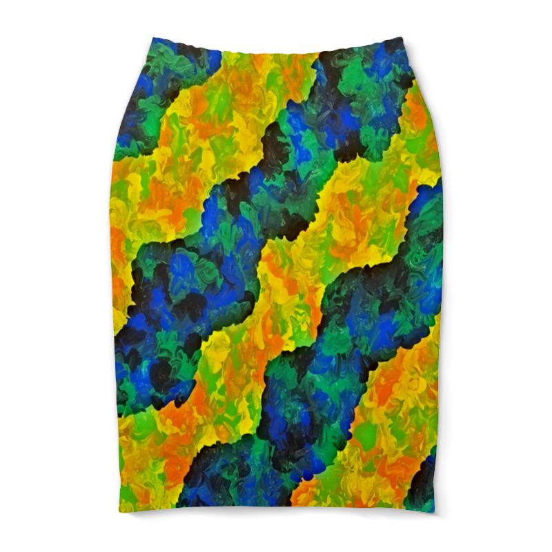 Юбка-карандаш Printio Желто-синие волны юбка карандаш printio цветные волны